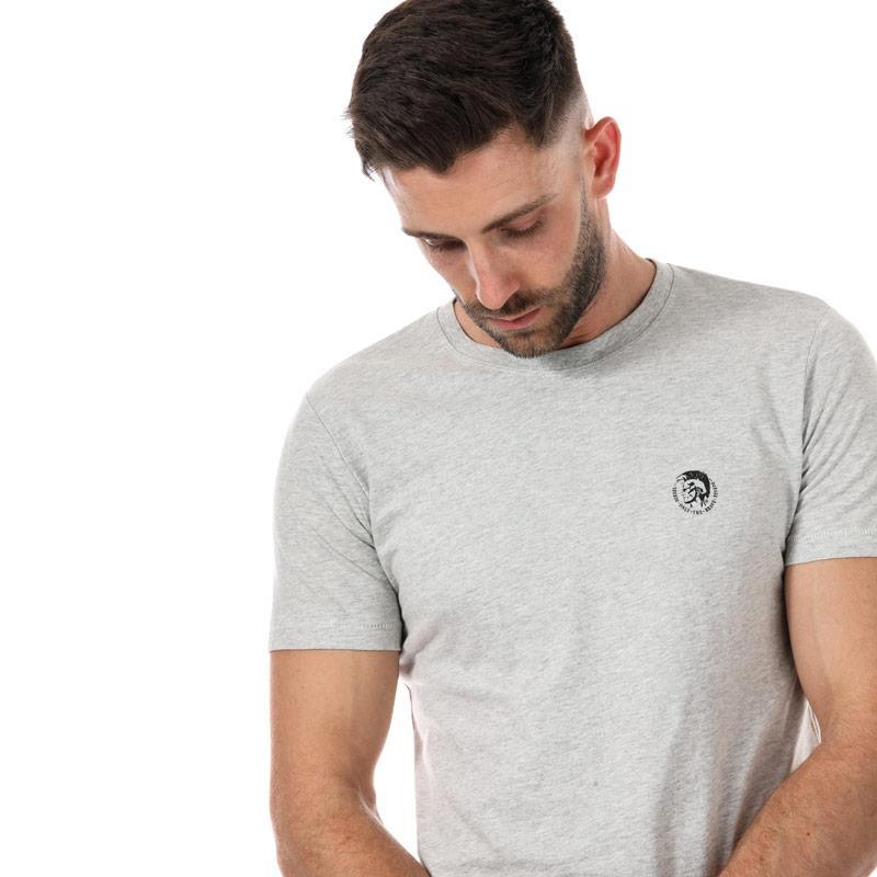 Tričko Diesel Mens UMLT Jake T Shirt Light Grey