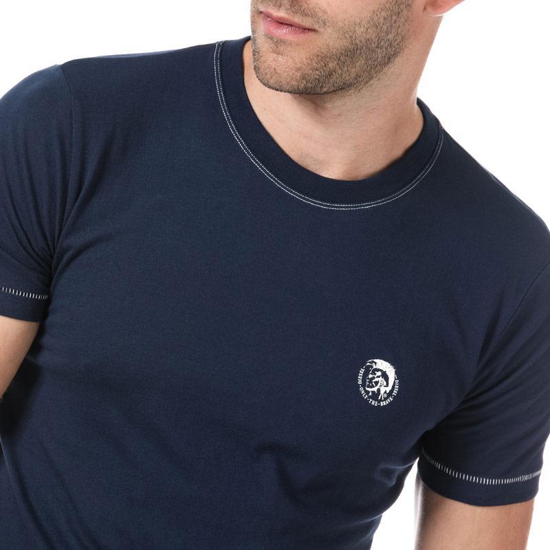 Tričko Diesel Mens UMLT Jake T Shirt Blue Velikost - S