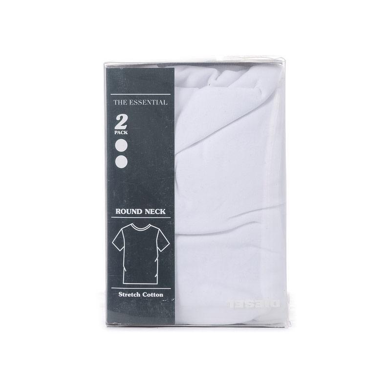 Tričko Diesel Mens Umtee-Randal 2 Pack Crew T-Shirt White Velikost - S