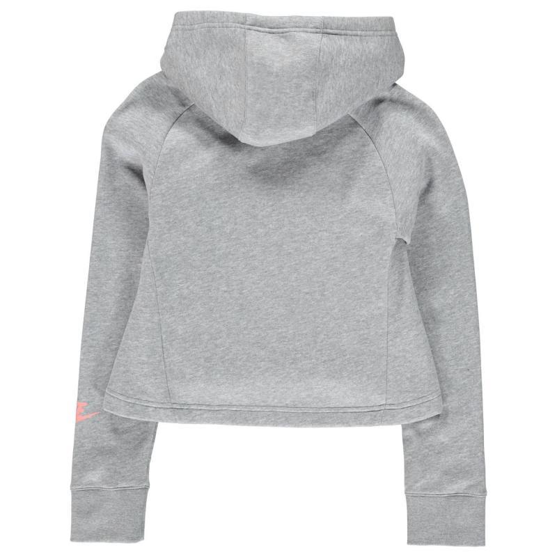 Nike JDI Crop Hoody Junior Girls Grey