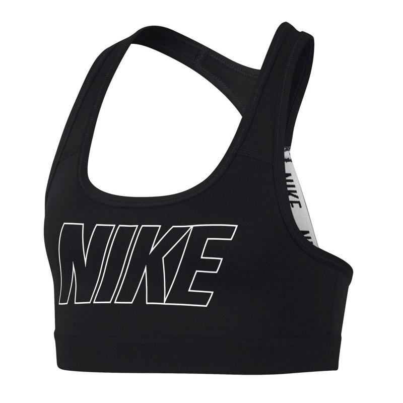 Nike Logo Strap Sports Bra Junior Girls Black