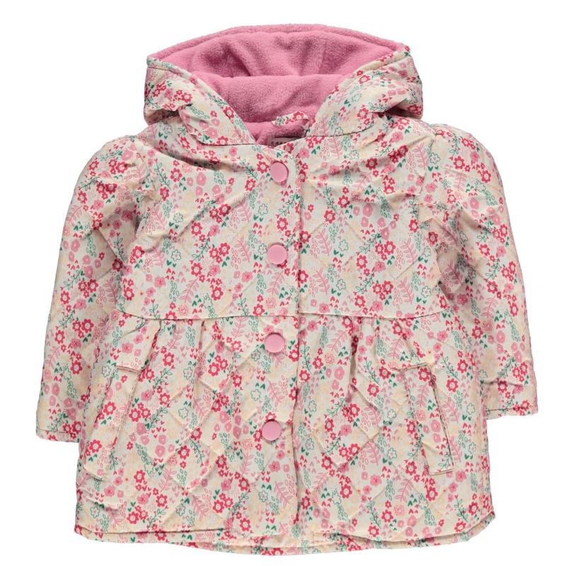 Crafted Essentials Padded Jacket Baby Girls Pink Floral
