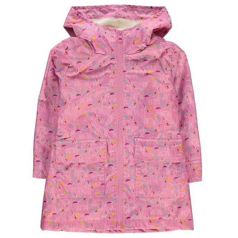 Crafted Essentials Rain Mac Infant Girls Pink Aop