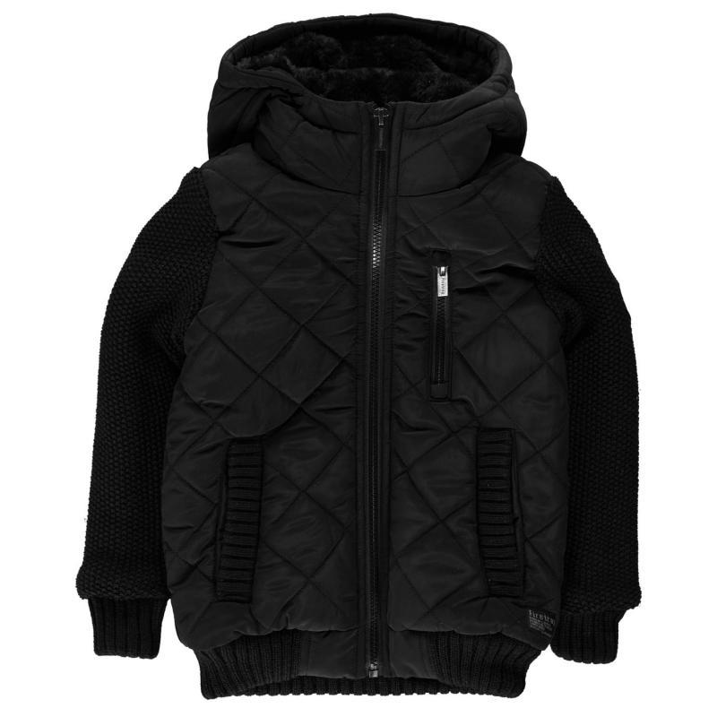 Bunda Firetrap Sartoria Knit Jacket Junior Boys Black