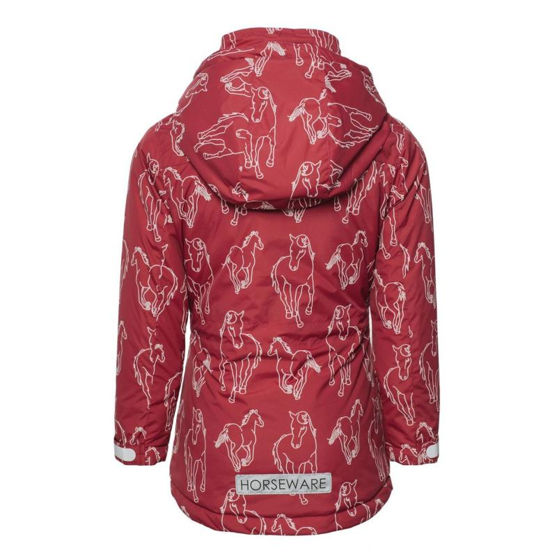 Horseware Horseprint Jacket Junior Girls Raspberry
