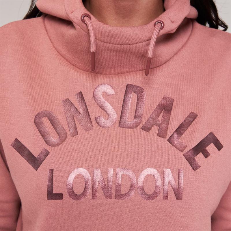 Mikina Lonsdale OTH Hoodie Ladies Grey Marl