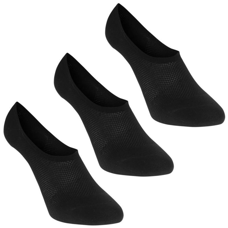 Ponožky Miso 3 Pack Mesh Sock Liner Ladies Black