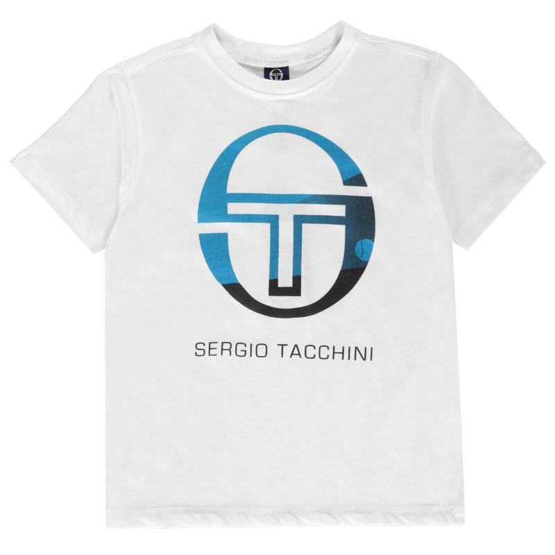 Tričko Sergio Tacchini Elbow T Shirt Junior Boys White/Blue