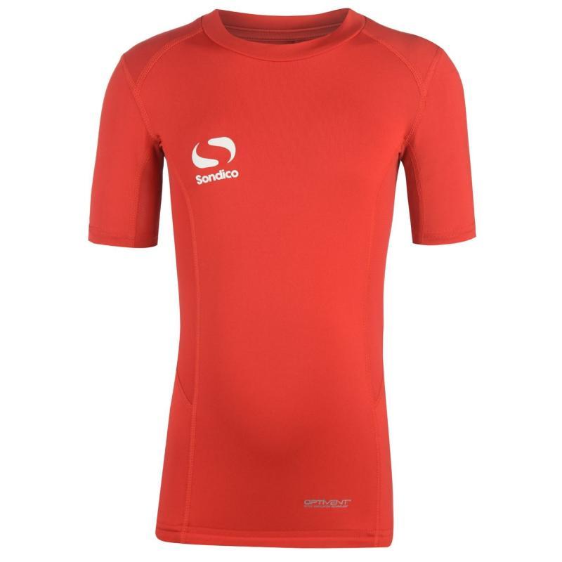 Sondico Core Baselayer Short Sleeves Juniors Red