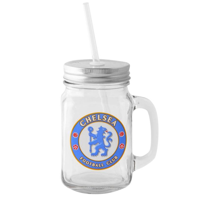 Team Football Mason Jar Chelsea