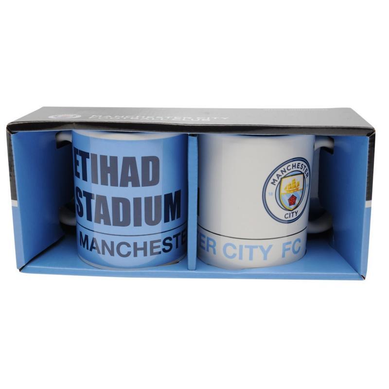 Team Twin Mug Set Man City