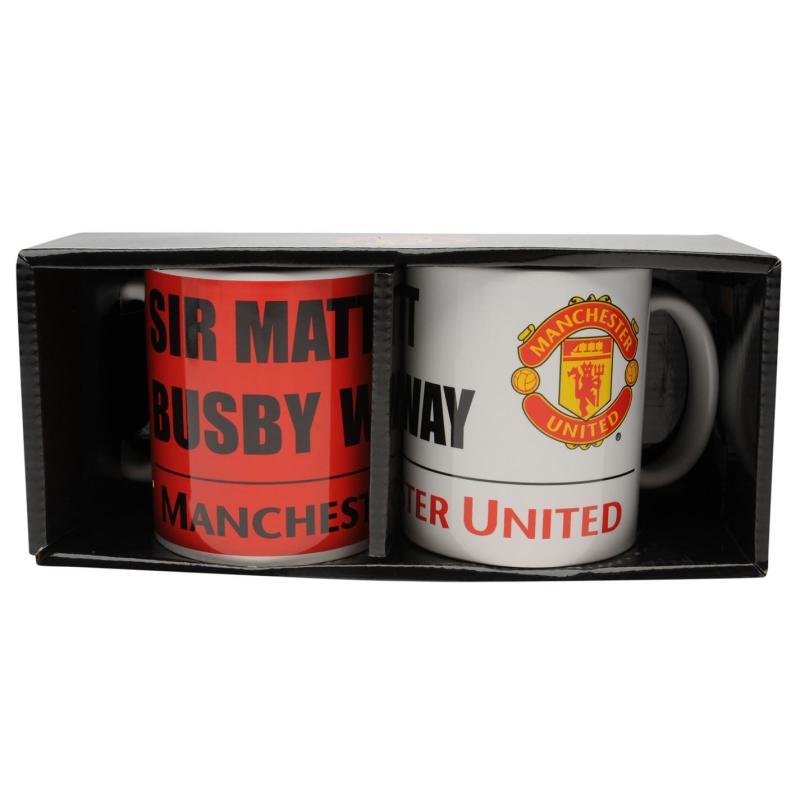 Team Twin Mug Set Man Utd