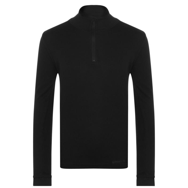 Campri Thermal Zip Top Juniors Black