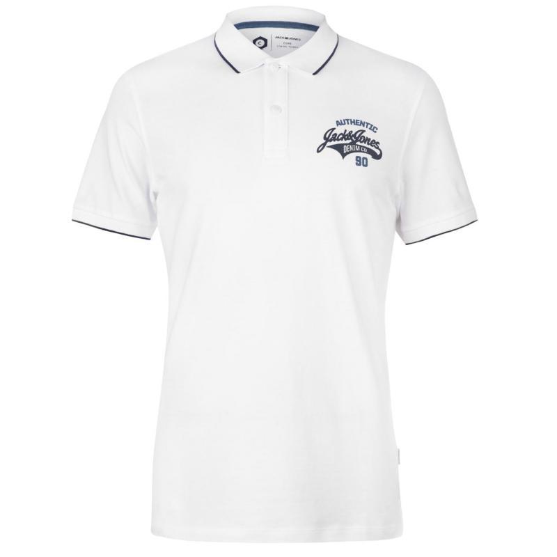 Jack and Jones Core Heritage Polo Shirt Mens White