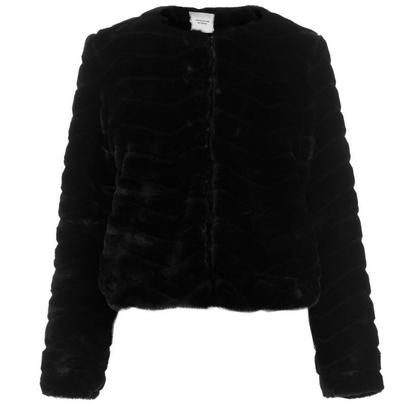 JDY Evan Fur Jacket Black