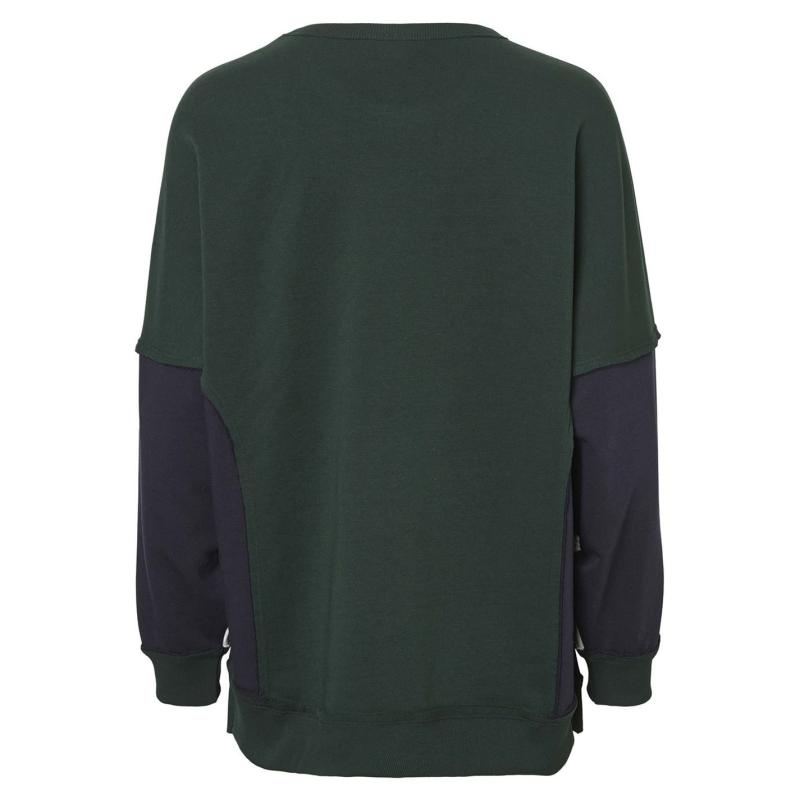 Mikina Noisy May Pom Block Panel Sweatshirt Pine Grove