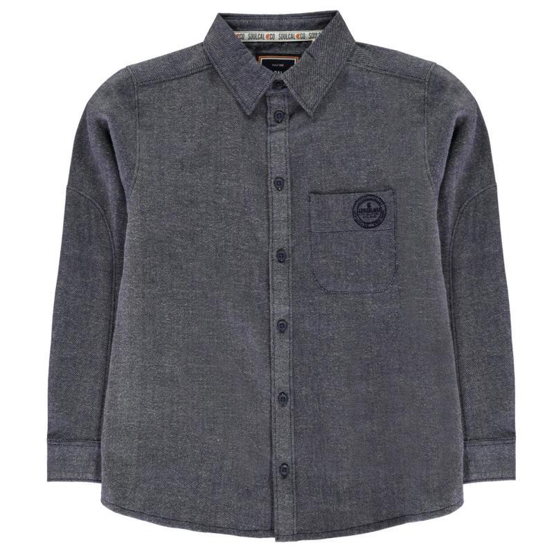 Košile SoulCal Woven Shirt Junior Boys Navy Marl