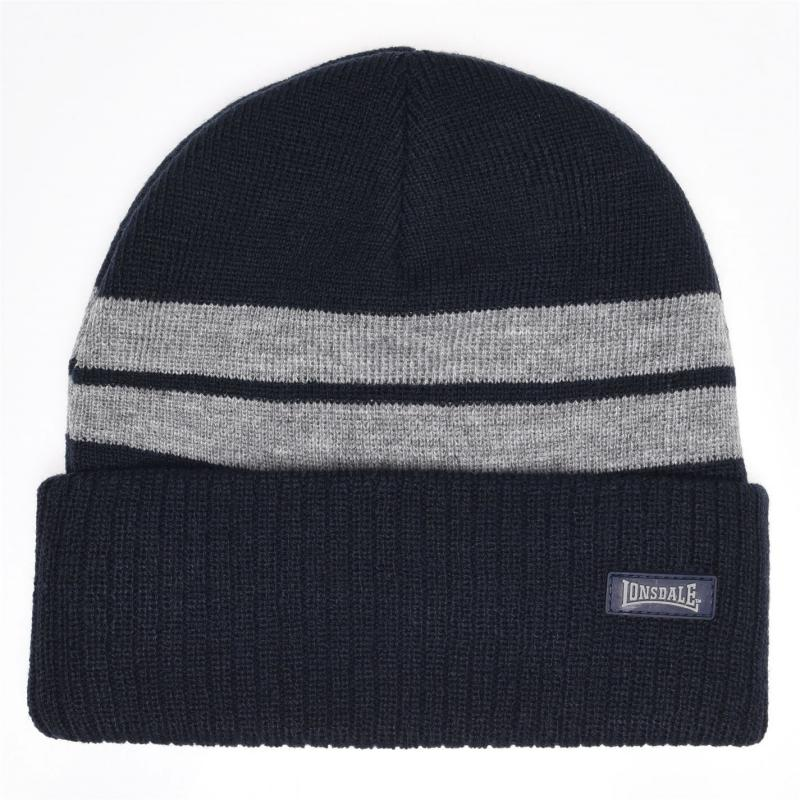 Lonsdale Turn Up Hat Junior Boys Navy