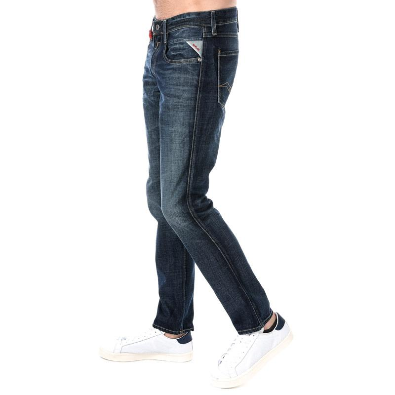 Replay Mens Anbass Slim Fit Jeans Denim