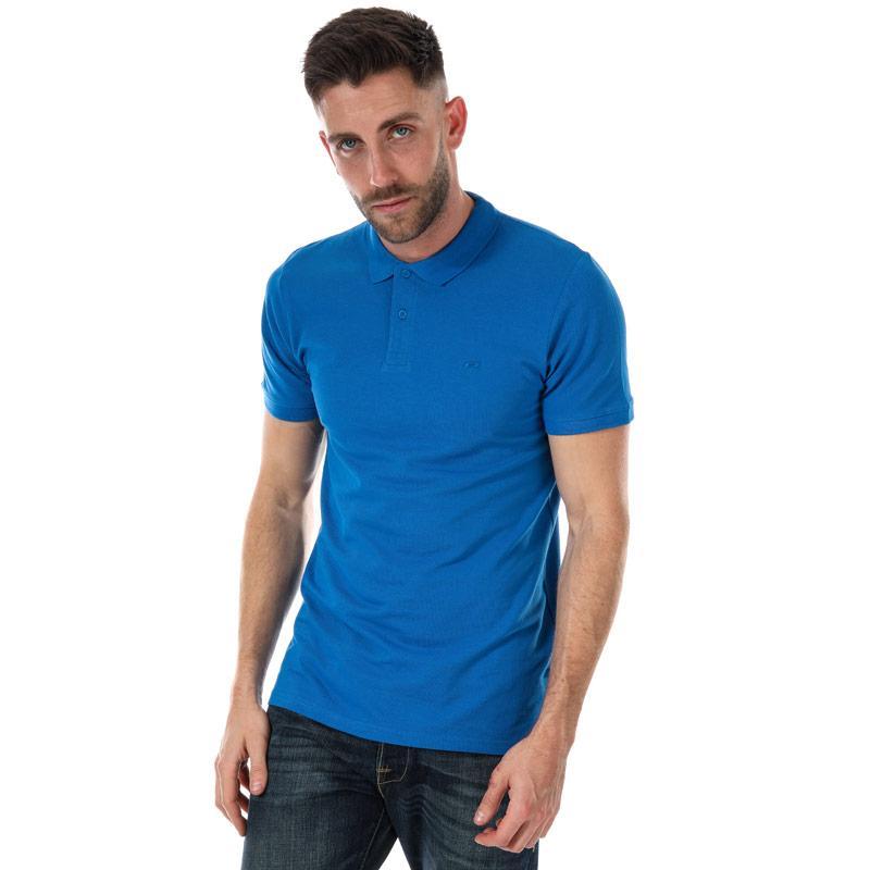 Jack Jones Mens Basic SS Polo Shirt Blue