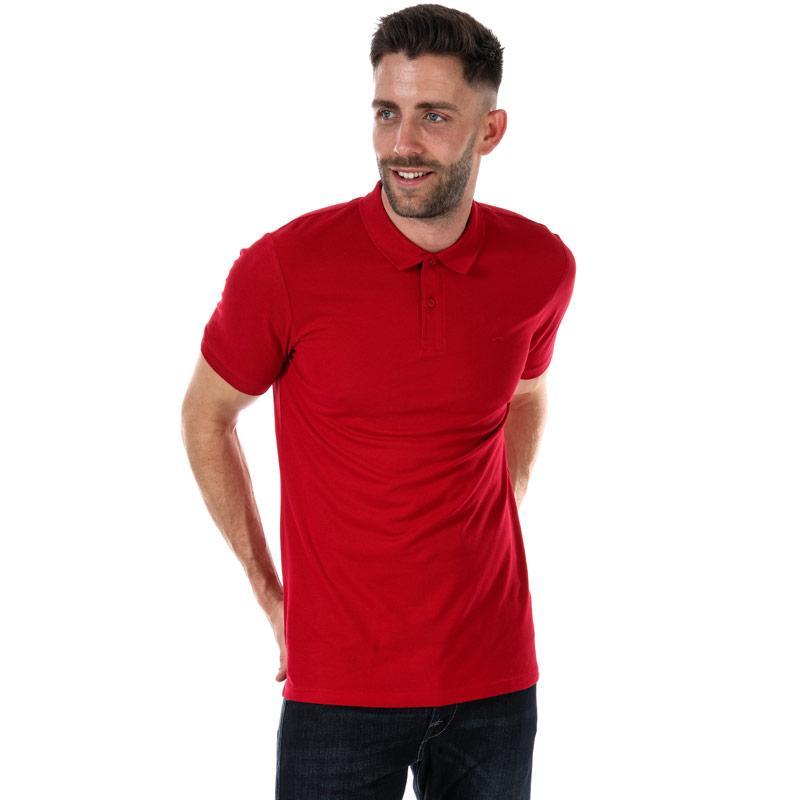 Jack Jones Mens Basic SS Polo Shirt Red