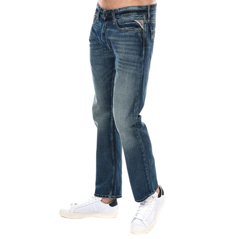 Replay Mens Newbill Comfort Fit Jeans Light Blue