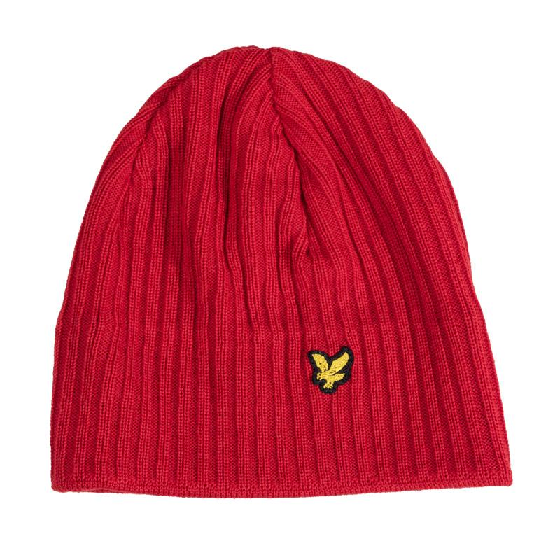 Lyle And Scott Mens Rib Beanie Red