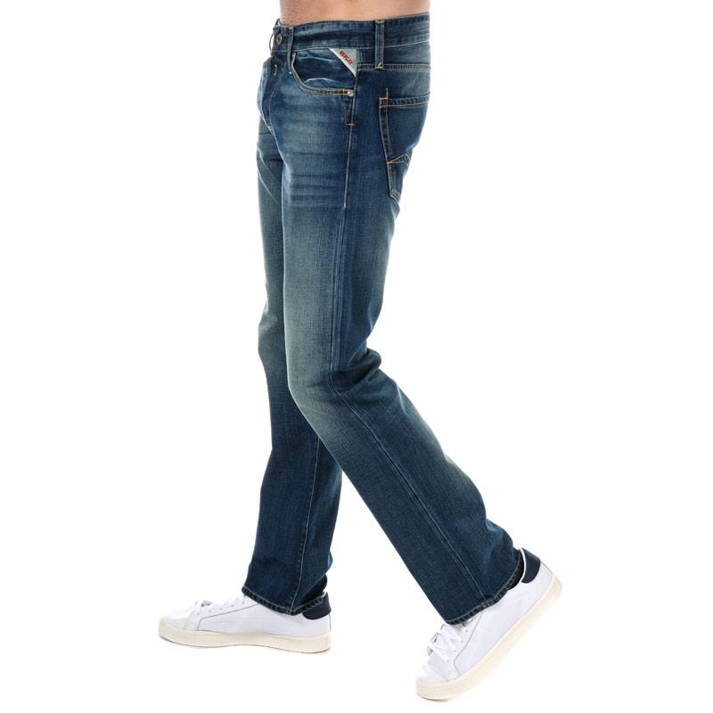 Replay Mens Waitom Regular Slim Fit Jeans Light Blue