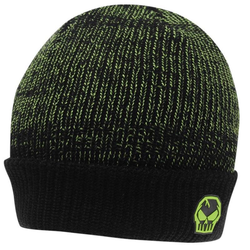 No Fear Mixed Beanie Black/Green