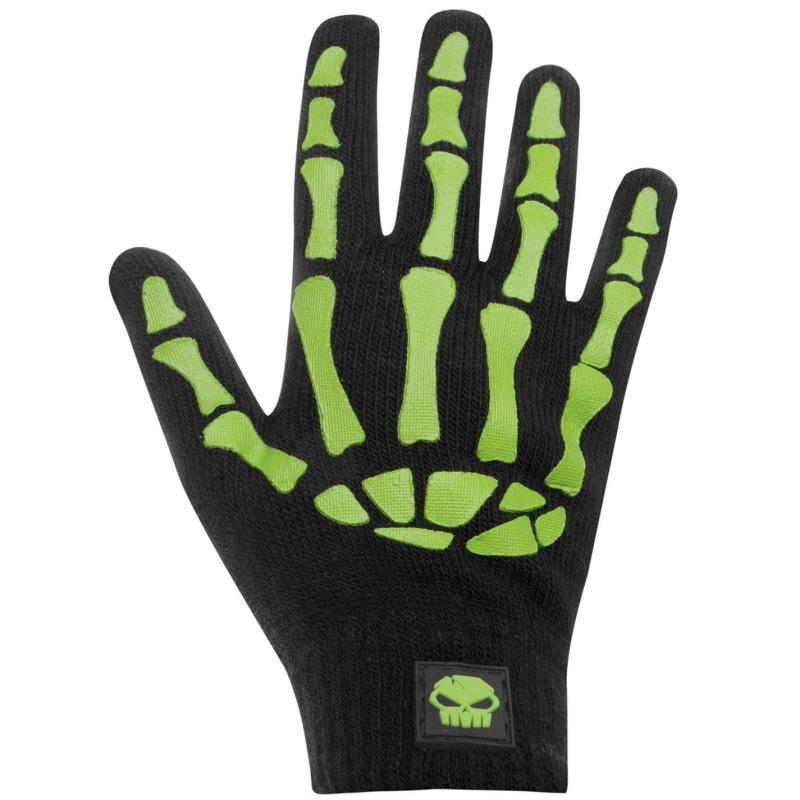 No Fear Print Gloves Junior Boys Bones