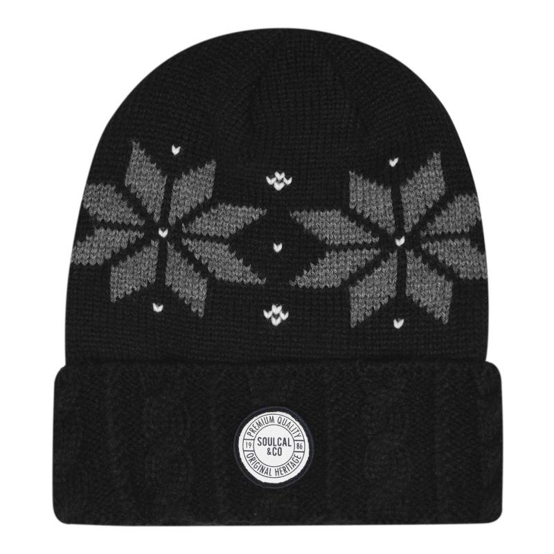 SoulCal Eiger Hat Mens Black/Grey