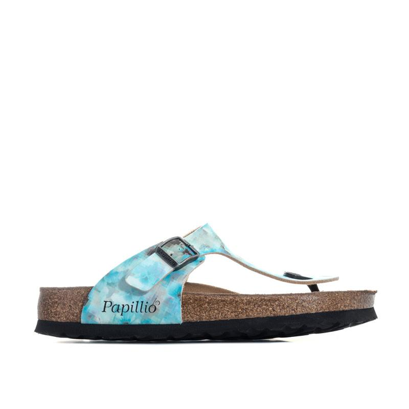 Boty Papillio Womens Gizeh Soft Footbed Sandals Regular Width Blue