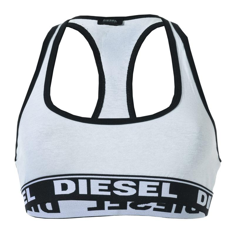 Diesel Womens Miley Soft Bra White Black Velikost - 8 (XS)