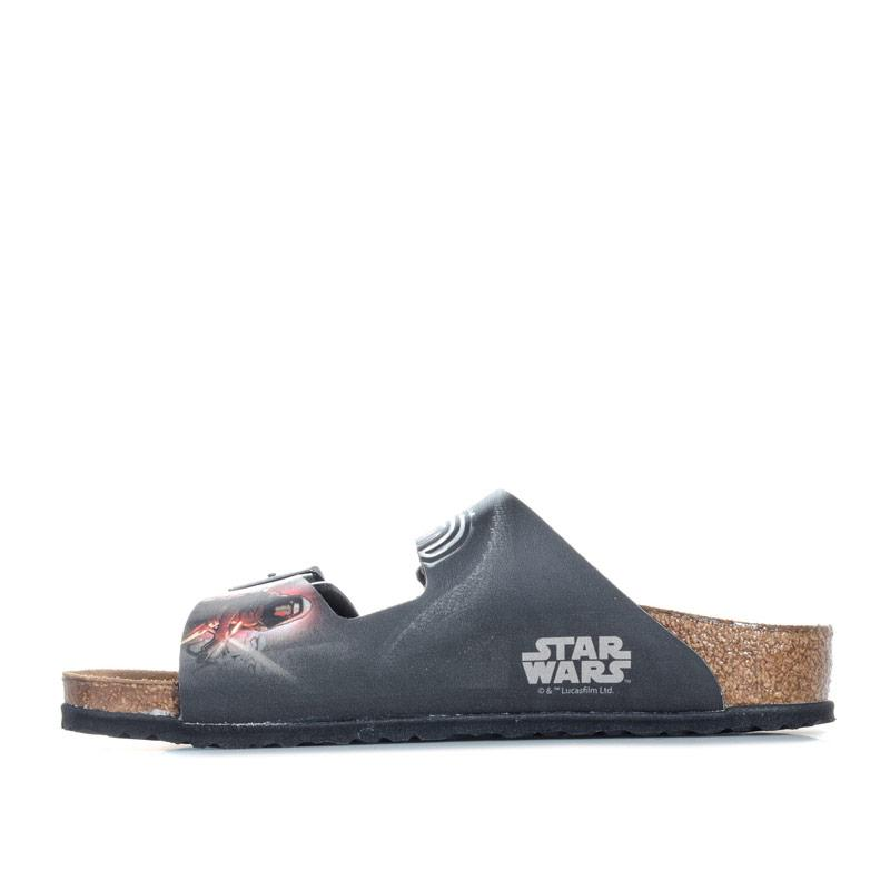 Boty Birkenstock Children Boys Arizona Kylo Ren Sandals Black Red