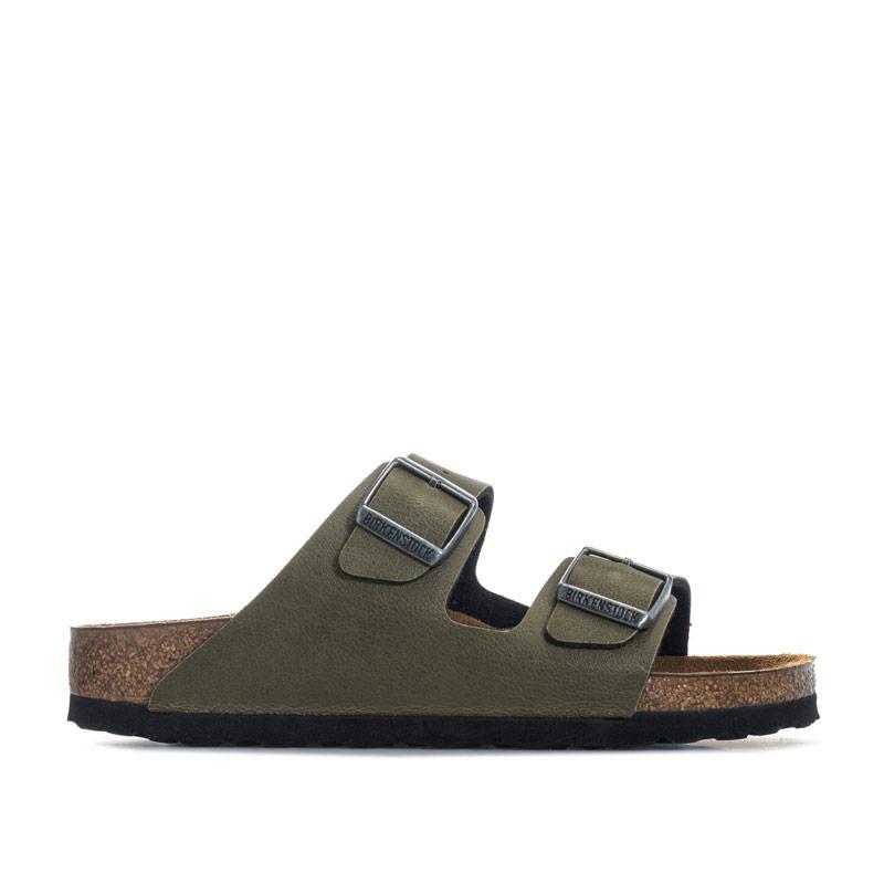 Birkenstock Children Girls Arizona Pull Up Sandals olive