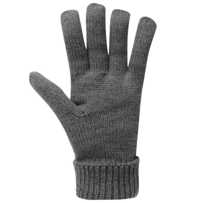 Firetrap Cable Knit Gloves Mens Black