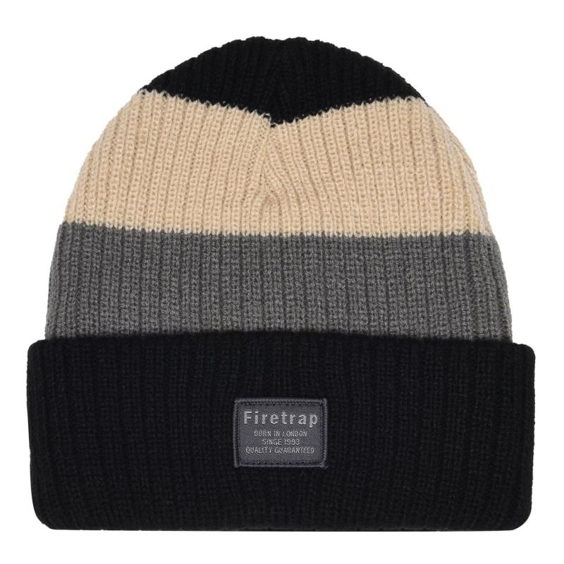 Firetrap Chunky Hat Junior Black/Charcoal