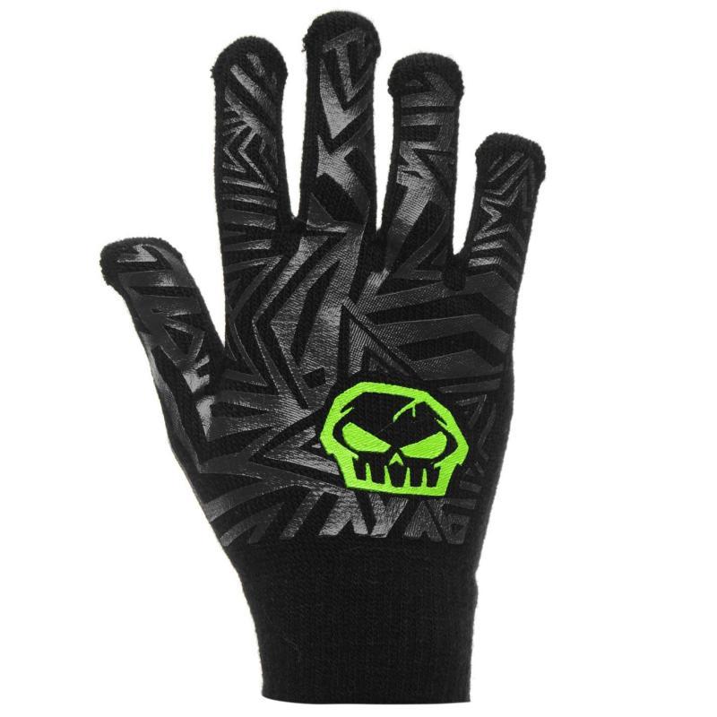 No Fear Print Gloves Junior Boys Skull