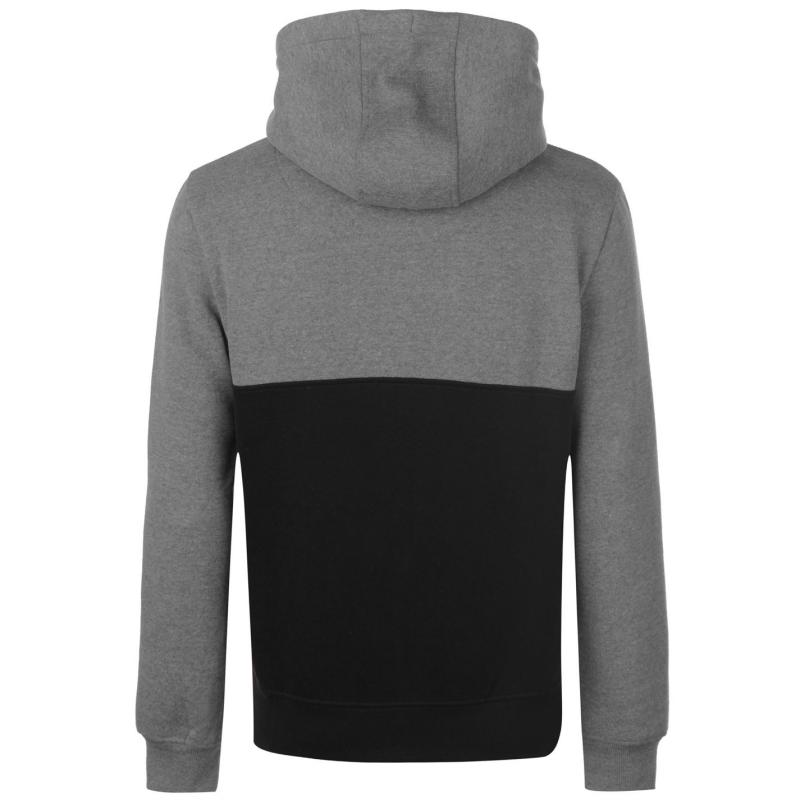 Mikina SoulCal Colour Block Zip Hoodie Mens Charcoal/Black