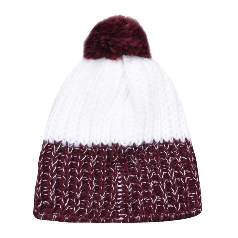 SoulCal Knit Bobble Hat White/Burg