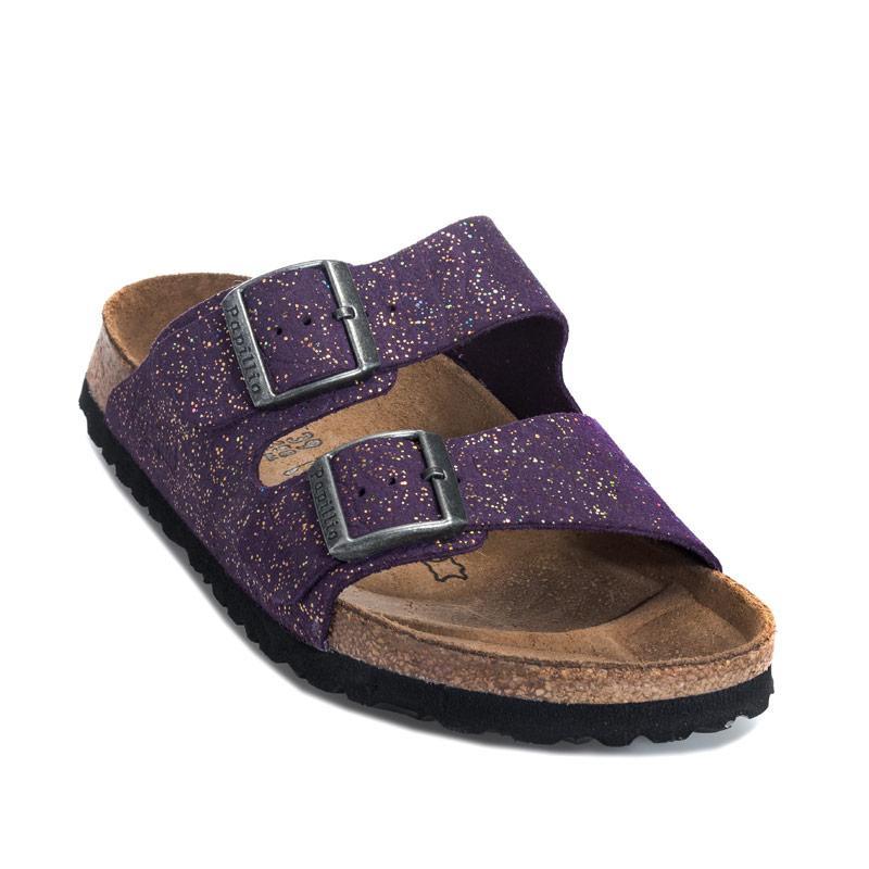 Boty Papillio Womens Arizona Leather Sandals Narrow Width Violet