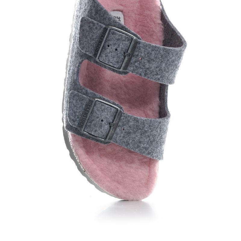 Birkenstock Womens Arizona Sandals Narrow Width Grey pink