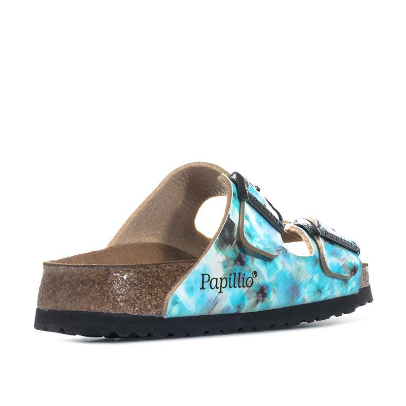 Boty Papillio Womens Arizona Soft Footbed Sandals Narrow Width Blue