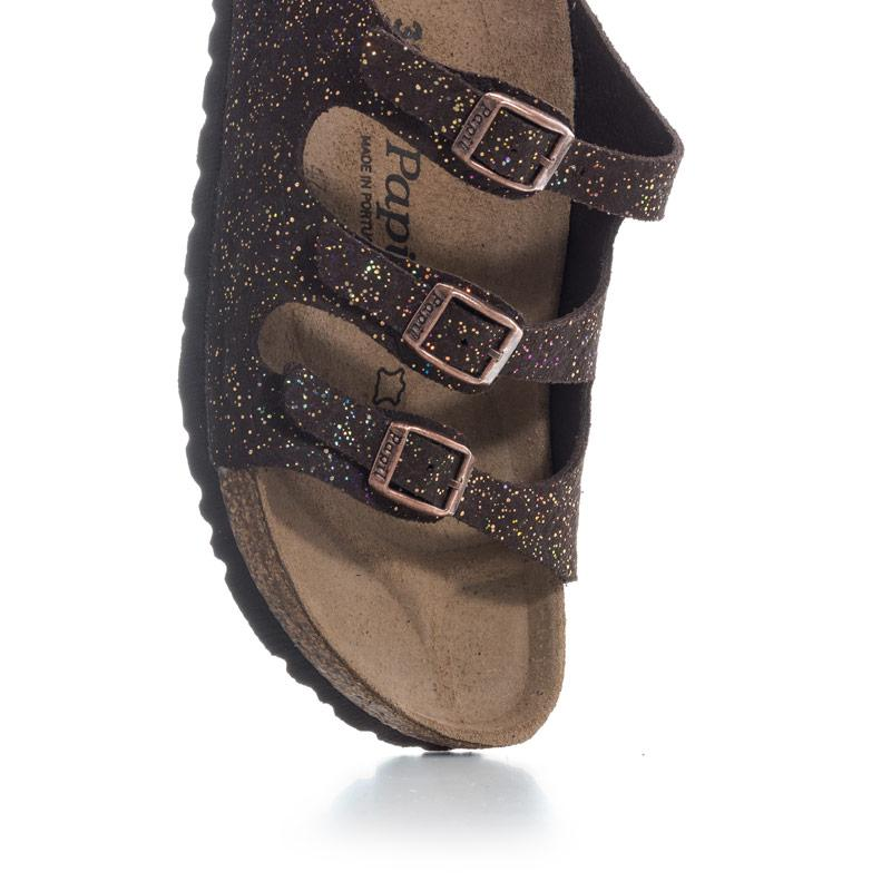 Boty Papillio Womens Florida Suede Sandals Narrow Width Brown