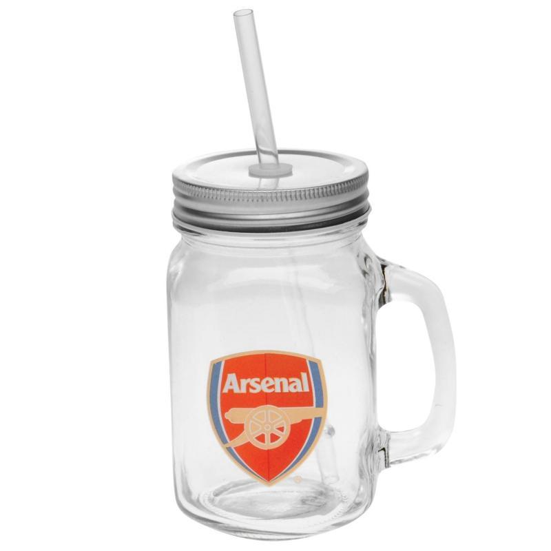 Team Football Mason Jar Arsenal