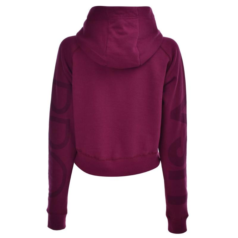 Mikina USA Pro Crop Hoodie Ladies Purple