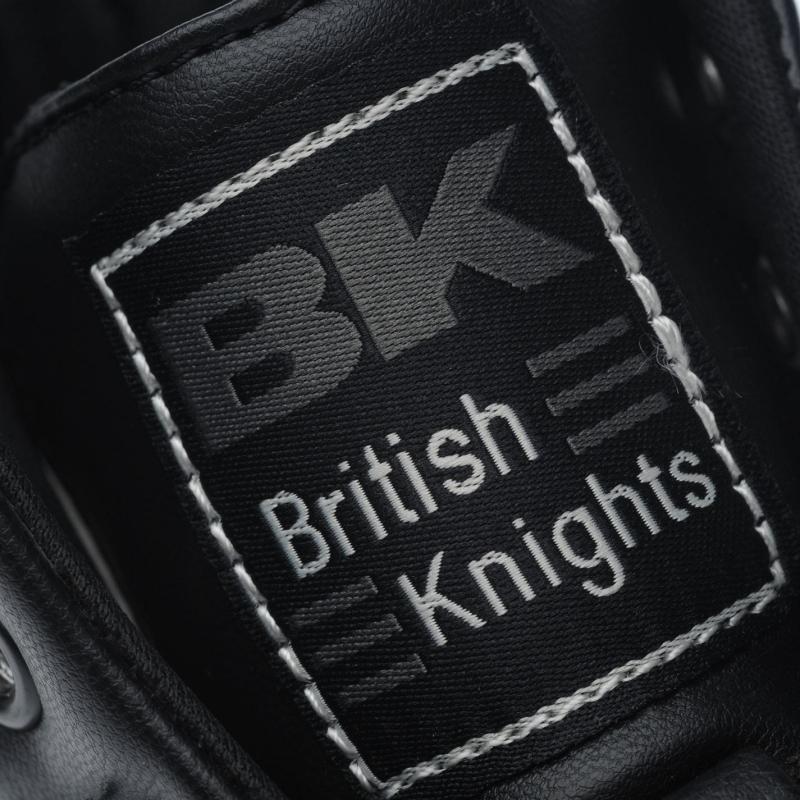 British Knights Roco Fold Over Junior Trainers Black/White