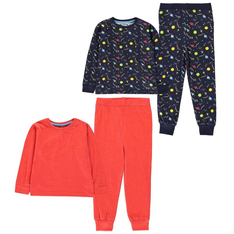Crafted Essentials 2 Pack Design Pyjamas Childrens Space Boys