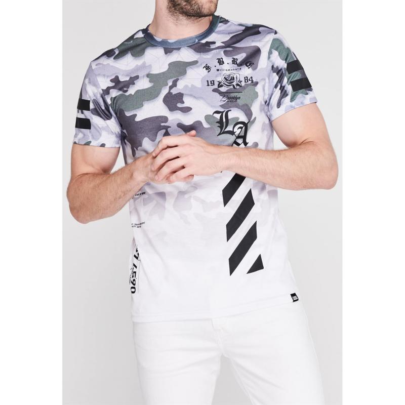 Tričko Fabric Sublimation T Shirt Mens Camo Khaki