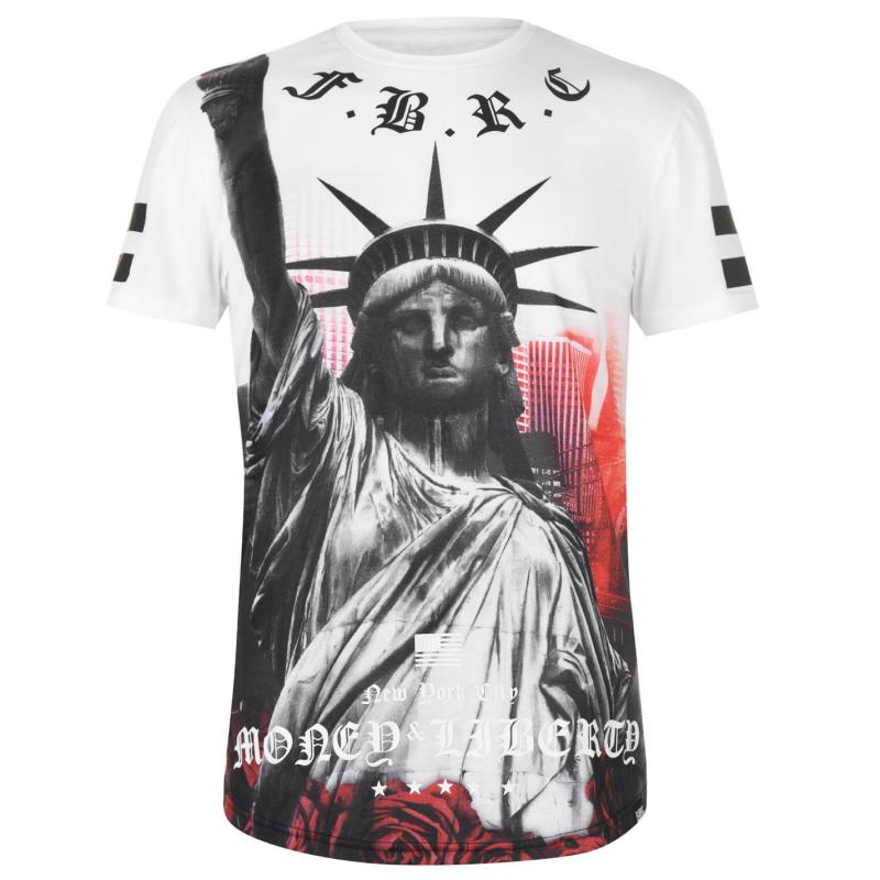 Tričko Fabric Sublimation T Shirt Mens Liberty White